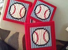 Baseball Coasters by jennifersgoodies1 on Etsy, $9.00