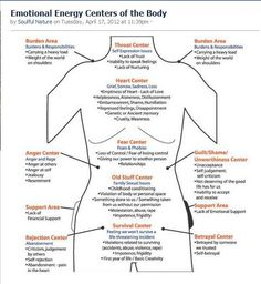 Emotional Energy Centers of the Body - We are energy managers.  All illness can be traced to a nutritional deficiency. Symptoms such as pain, anxiety and allergies are really symptoms of a toxic body. In today's environment you need more than a multi-vitamin to protect your health. As hormone levels decrease, we run out of energy. This accelerates aging.