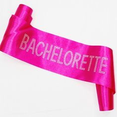 Glittering Black Pink Mother Of The Bride Sash