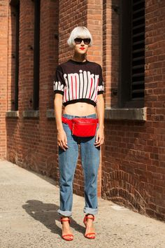 The NYFW Street-Style Looks That Truly Stunned #refinery29 http://www.refinery29.com/2014/09/73987/new-york-fashion-week-2014-street-style-photos#slide48 Linda Tol is dedicated to the '90s.