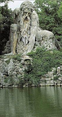 Colosso dell'Appennino in the Parco Mediceo di Pratolin near Florence, Italy • sculptor: Giambologna (1580)