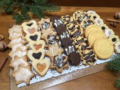 Hungarian Desserts, Hungarian Cake, Hungarian Recipes, Bakery Recipes, Cookie Recipes, Dessert Recipes, Galletas Cookies, Christmas Dishes, Healthy Cookies