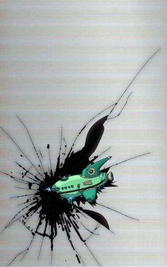 Futurama mobile phone wallpaper.