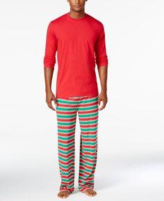 2d30bb3270 Retail Trunk - Brand Name Designer Apparel at highly discounted prices. Family  Pajamas Men s Holiday Stripe Knit Pajama Set