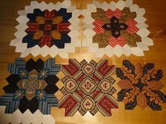 Lucy Boston quilt, love the patterns that appear.