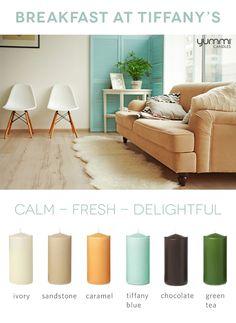 Yummi Color Inspiration: Breakfast at Tiffany's Shop www.YummiCandles.com