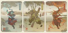 """ArtStation - """"Three Spirits"""" Dota 2 Ukiyo-e, Swade (Scott Wade)"""