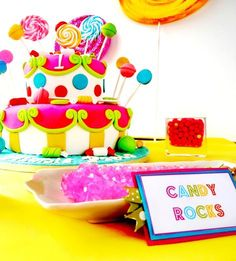 Hostess with the Mostess® - CandyLand Birthday Party Candyland, Candy Land Theme, 1st Birthday Parties, Birthday Ideas, Birthday Wishes, Birthday Cake, Festa Party, Candy Party, Cute Cakes