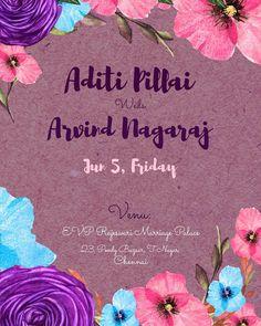 #floralweddinginvite #weddinginvitaiondesign #indianwedding #wedding #weddinginvitation #illustratedweddingcard