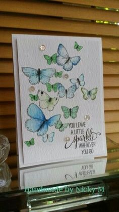 Memory Box Flutter stamp with zig clean color real brush and a touch of wink of stella