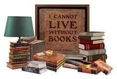 """""""I Cannot Live Without Books!"""" by carla-altum ❤ liked on Polyvore featuring art"""