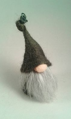 Needle Felted Tomte Gnome Ornament. Norwegian, Scandinavian Gnome Decoration. by FeltbyLisa on Etsy
