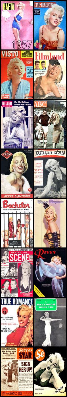1957 magazine covers of Marilyn Monroe ...