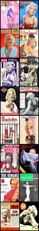 1957 magazine covers of Marilyn Monroe  .... #marilynmonroe #normajeane #vintagemagazine #pinup #iconic #raremagazine #magazinecover #hollywoodactress #1950s