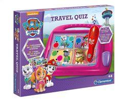 Joepie vakantie! Dan mag de PAW Patrol Travel Quiz niet ontbreken. Leg een speelkaart op het koffertje en gebruik de pen om je antwoord aan te duiden.