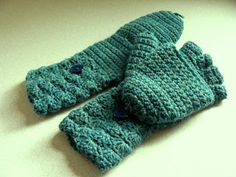"""Crochet Convertible Glove Mittens (aka """"Glittens"""") - a free pattern link and several different adaptations"""