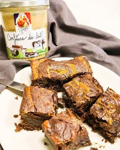 Brownie fondant chocolat confiture de lait Lucien Georgelin