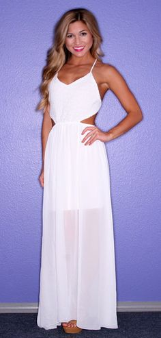 Honolulu Bliss Maxi in White - $46.00 for the rehearsal day...If I'm skinny enough by then.