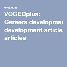 Decd graduate qualities and capabilities career development and vocedplus careers development articles malvernweather Image collections