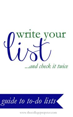 A guide to to-do lists