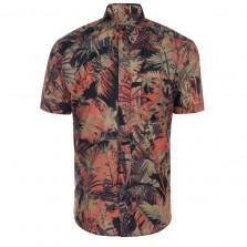 Paul Smith Shirts - Orange And Khaki Acid Jungle Print Short-Sleeve Shirt