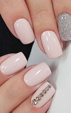 15 Cute Nail Art Designs to Welcome Summer - Nails IdeasWedding NailsHealthier Nails - Solid Color Nails, Nail Colors, Ongles Roses Clairs, Nagellack Design, Cute Nail Art Designs, Wedding Nails Design, Wedding Pedicure, Wedding Designs, Nail Designs For Weddings