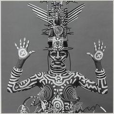 Robert MAPPLETHORPE :: Grace Jones, 1984 [body painted by the New York graffiti artist, Keith Haring]