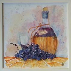 In vino veritas Aquarell