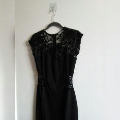 17c84678c53b LITTLE BLACK DRESS W/LACE • Little black mini dress w/lace - Depop
