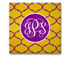 Purple/Yellow Moroccan Coasters