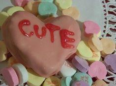 """Valentine's day conversation cake """"pops"""""""