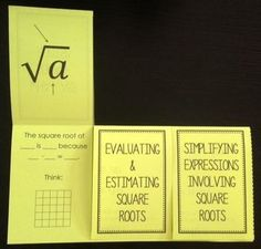 Intro to Square Roots (Foldable) $2