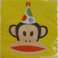 "Paul Frank Party Lunch Napkins Set of 16 - 12.75"" x 12.75"""