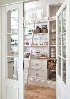 having a ladder = pantry goals
