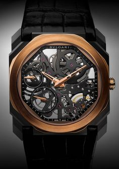 New Release: BVLGARI sets a new record at Baselworld 2018 with the Octo Finissimo Tourbillon Automatic - Gents Watches, Fine Watches, Cool Watches, Watches For Men, Dream Watches, Bvlgari Watches, Luxury Watches, Rolex Watches, Bvlgari Gold