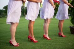 bridesmaids! lavender and red!