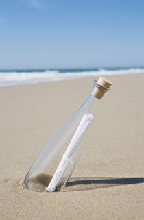 I would love to get a message in a bottle,
