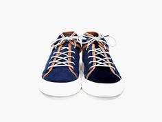 Men's velvet Ksubi Navy Lewis Sneakers