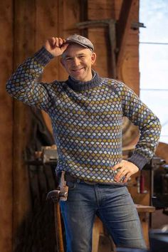 Best Suits For Men, Cool Suits, Jumper, Men Sweater, Rowan Felted Tweed, Handgestrickte Pullover, Country Attire, Hand Knitted Sweaters, Stockinette