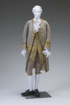 Gentleman's Court Suit  circa 1770    Place object was created: Great Britain, Europe    Silk