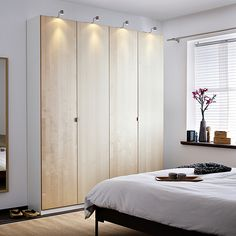 ikea pax in master bedroom id so much rather just skip on closets altogether and just use a wardrobe home interior decorating ideas free Ikea Wardrobe Hack, Ikea Closet, Wardrobe Doors, Wardrobe Ideas, Capsule Wardrobe, Dressing Ikea, Armoire Dressing, Armoire Ikea, Bedroom Decor