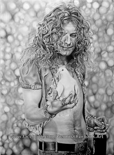 Robert Plant - Led Zeppelin. Available as limited edition, signed, numbered Giclee prints. Prints will not contain the Facebook address. #Art #Artist #Pencil #Graphite #Charcoal #AAA #Prints #Sale #Illustration #Portrait #Figure #Pets Copyrights © 2013 All rights reserved, no use, recovery, modification of these drawings are permitted without my written permission. Contact: gemma.furbank.art@gmail.com to place order. Paypal accepted. Thank you.