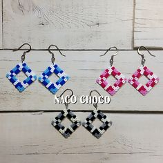 Earrings perler beads by NaCO CHoCO