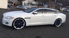 Custom Jaguar XJL Side View with Forgiatos
