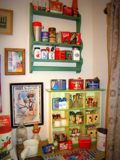 All my collectibles in a corner of the kitchen