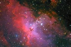Eagle Nebula (M16 ) in the Serpens constellation at distance of 7000 light years.