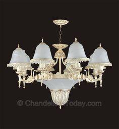 Alabaster Chandelier #250 8+3 Light