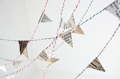 Recycled Book Pages Garland by Saratops. Brilliant!