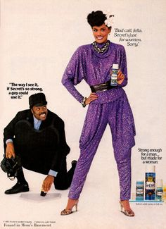 1982 Secret deodorant ad