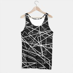 Modern Black & White Lines Tank Top, Live Heroes Black And White Lines, Printed Tank Tops, Tank Man, Hoodies, Live, Stylish, Modern, Clothing, Sweaters